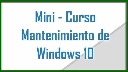 curso de mantenimiento de Windows 10