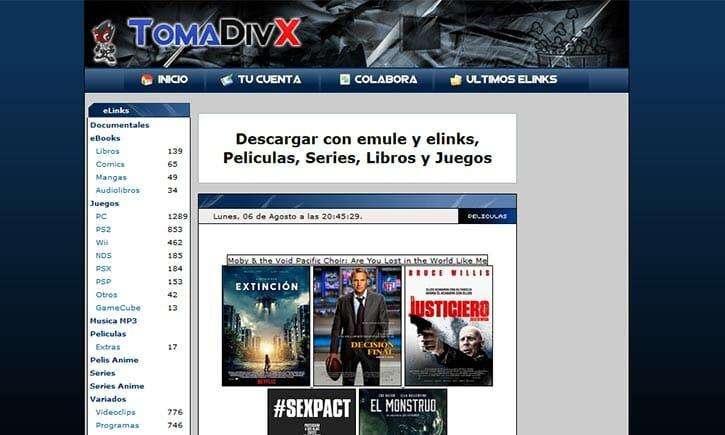 TomaDivx películas y Series emule