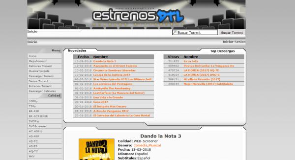 estrenosDTL torrents peliculas web