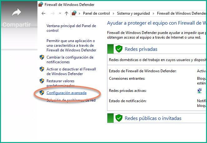 Abrir puertos en firewall Windows 10 (5)