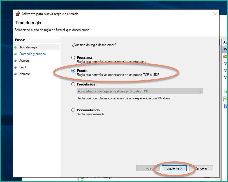 Abrir puertos en firewall Windows 10 (8)