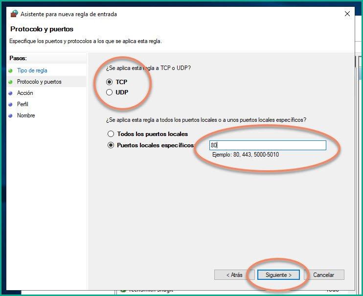 Abrir puertos en firewall Windows 10 (9)