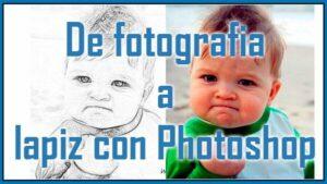 De fotografia a lapiz con adobe photoshop