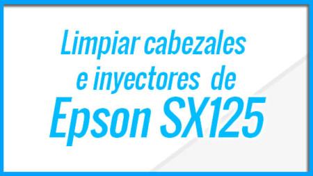 Epson SX125 Limpieza y test de inyectores