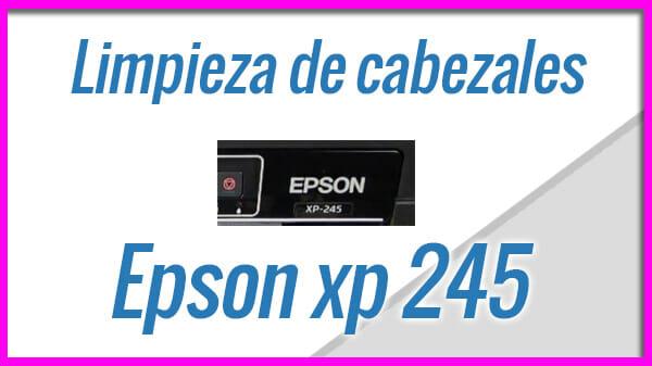 Epson XP245 Limpieza y test de inyectores