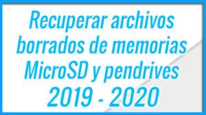 Como recuperar archivos de una SD o MicroSD dañada 2020