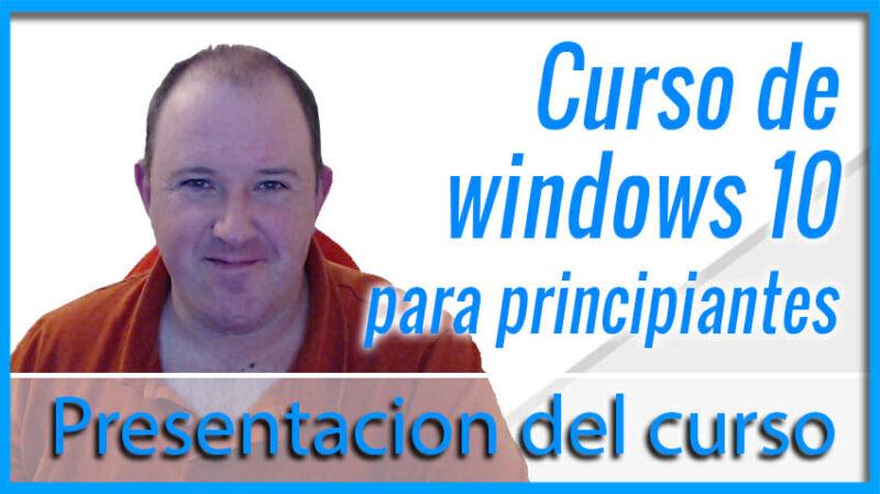 Curso básico de Windows 10 para novatos y personas mayores