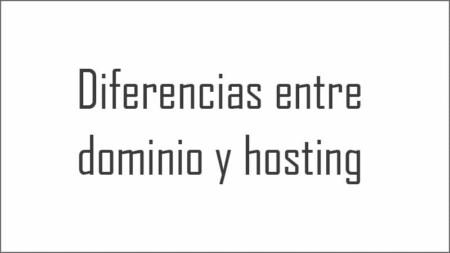 Diferencias entre dominio y hosting