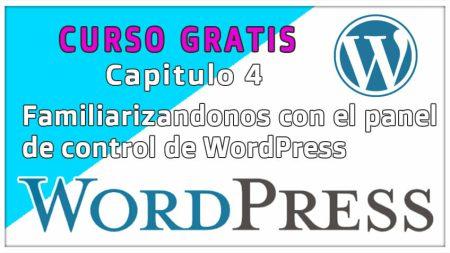 Familiarizandonos con el panel de control de WordPress y configuración de pequeños parametros