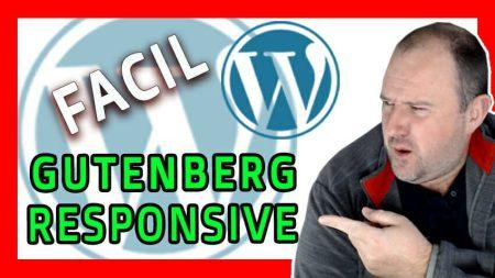 Como Hacer un DISEÑO RESPONSIVE con Gutenberg - Curso WordPress 2021