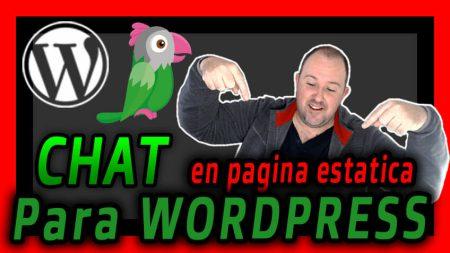 Como Poner un CHAT en una pagina estatica WordPress Tawk
