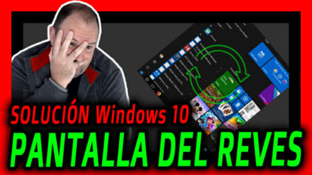 Pantalla GIRADA o VOLTEADA o DEL REVES en Windows 10 - SOLUCION - Como recuperar 2021
